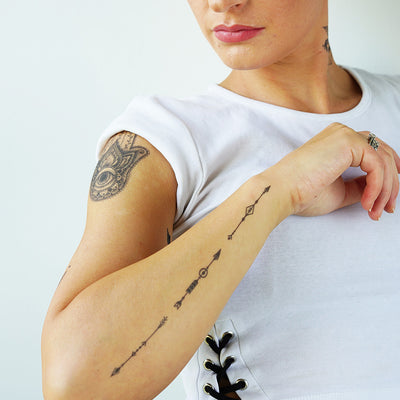 boho arrows tattoo