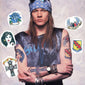 axl rose temporary tattoos set