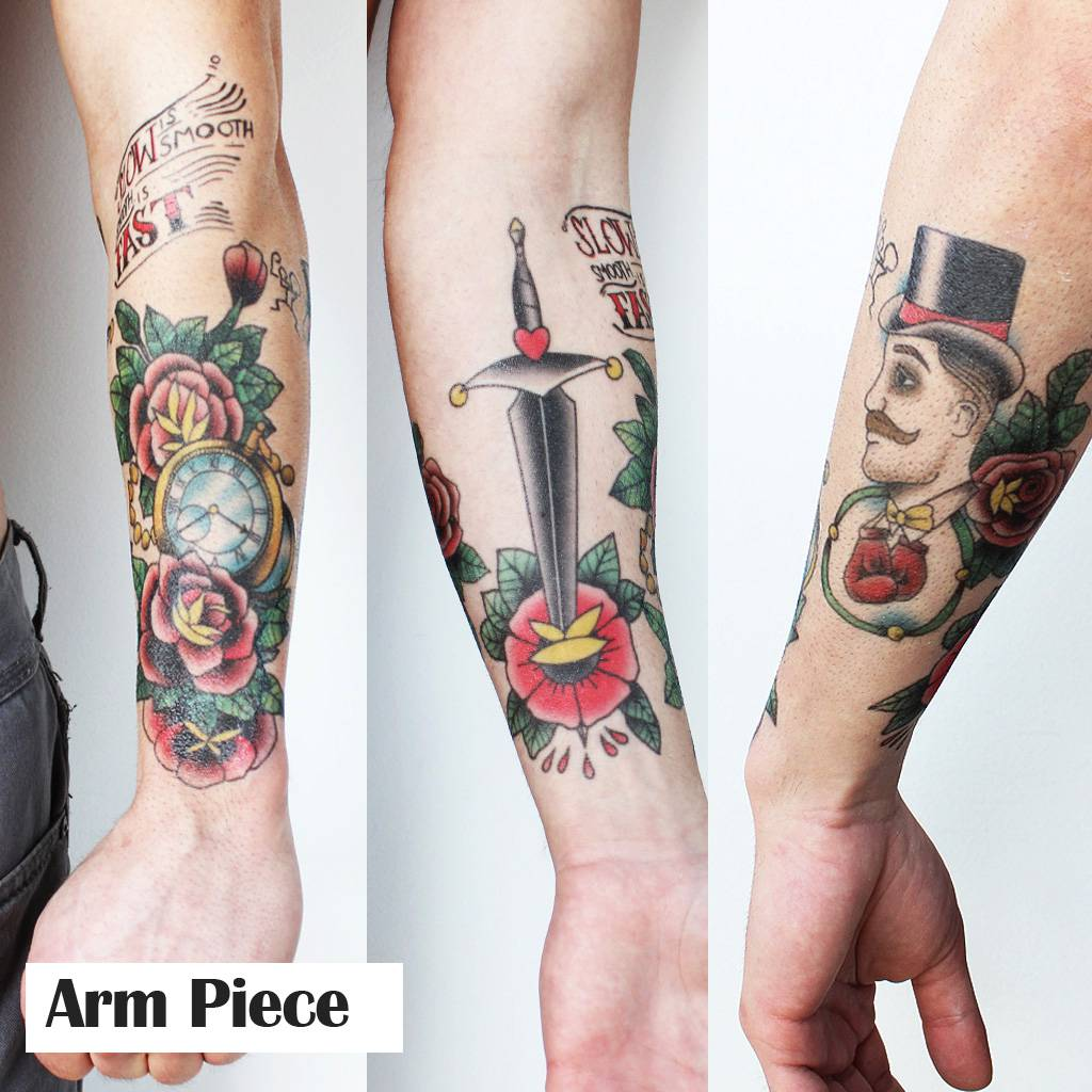 conor mcgregor arm temporary tattoos