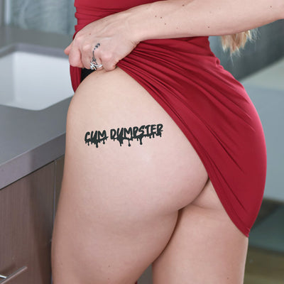 2x Cum Dumpster Temporary Tattoo