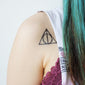 deathly hallows temporary tattoo