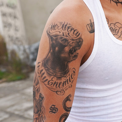 doberman cholo tattoo