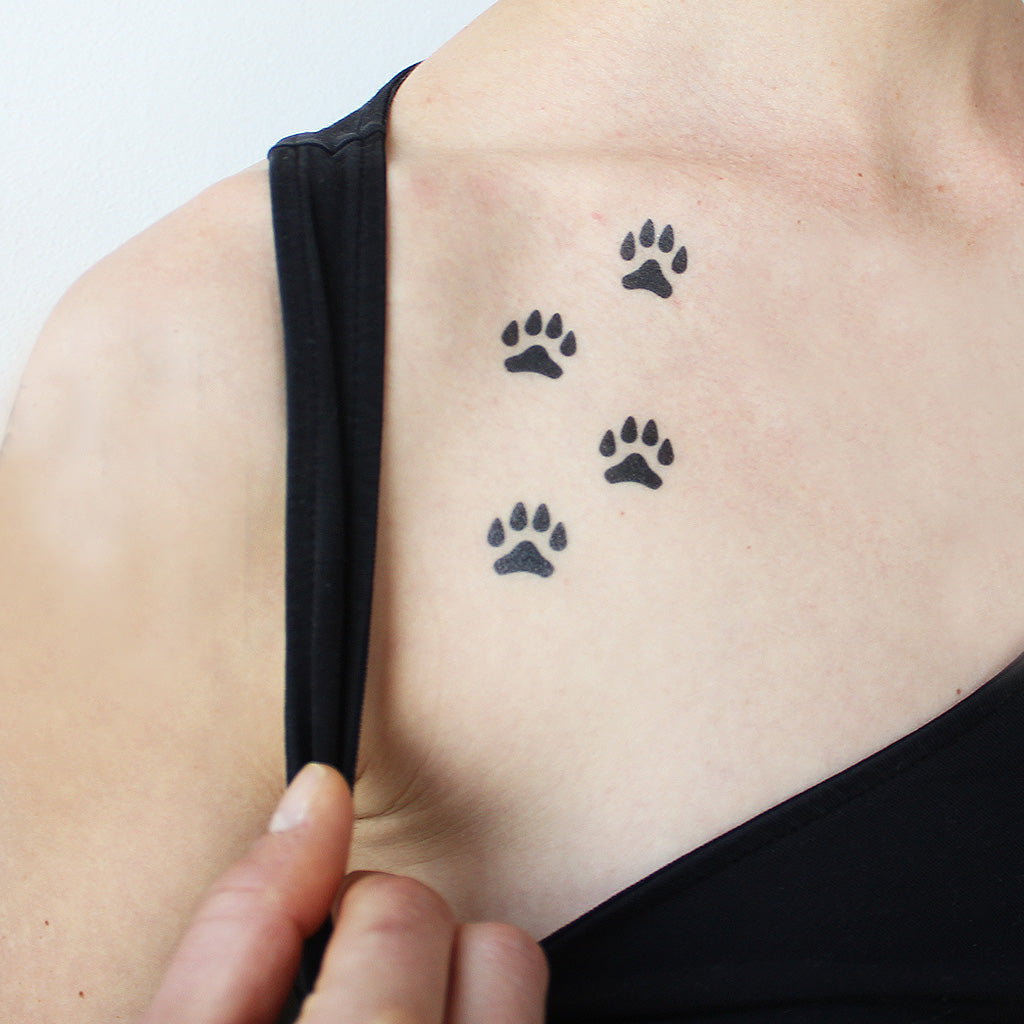 dog paws tattoo