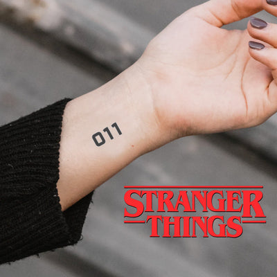 Eleven Tattoo Stranger Things (Set of 2)