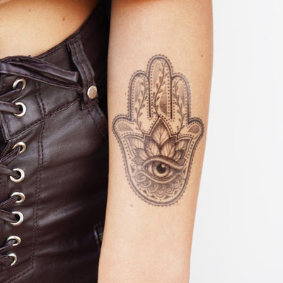 hamsa hand temporary tattoo