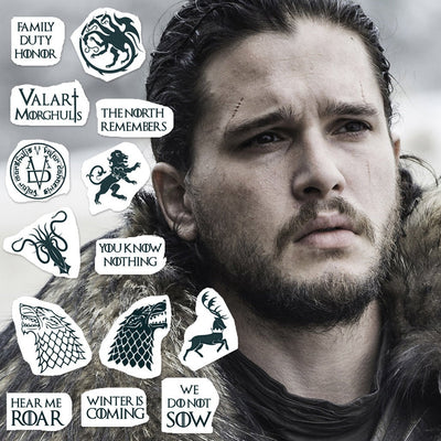 Game Of Thrones Tattoo Set (Set of 15)