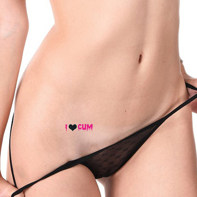 2x I Love Cum Temporary Tattoo