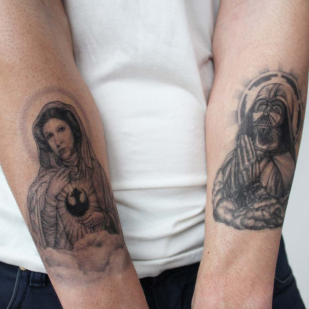 vader and leio organa tattoos