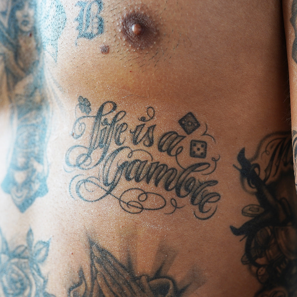 life is a gamble tattoo