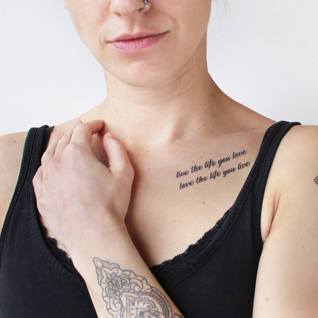 quote temporary tattoo