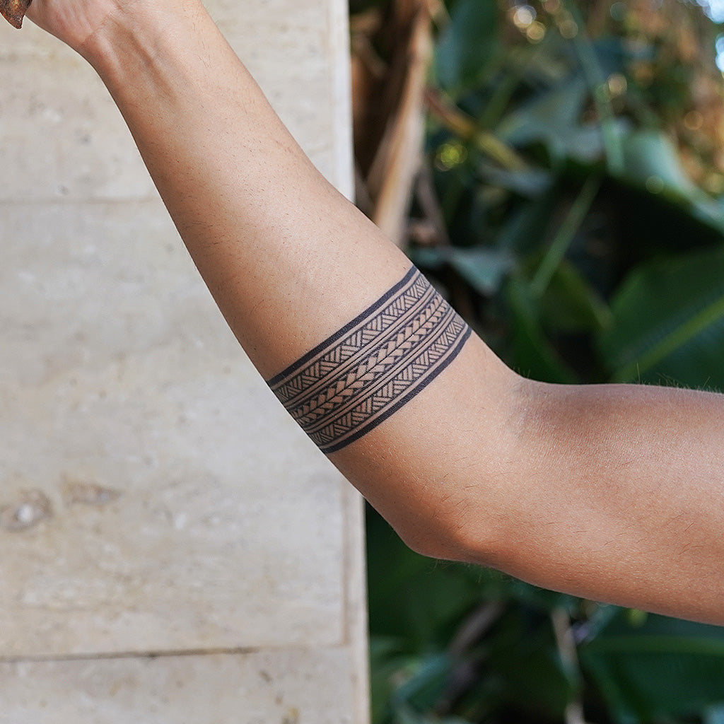 maori armband temporary tattoo