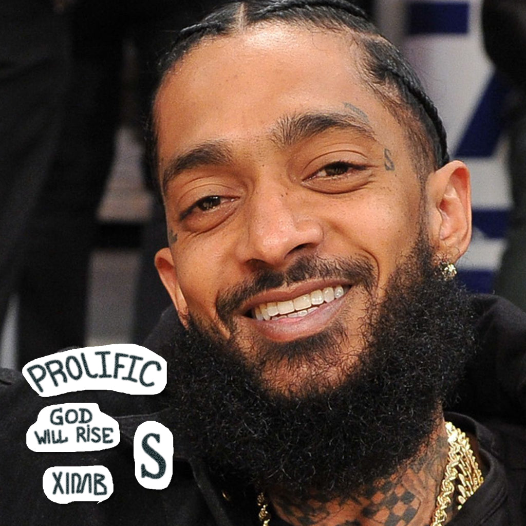 nipsey hussle temporary face tattoo