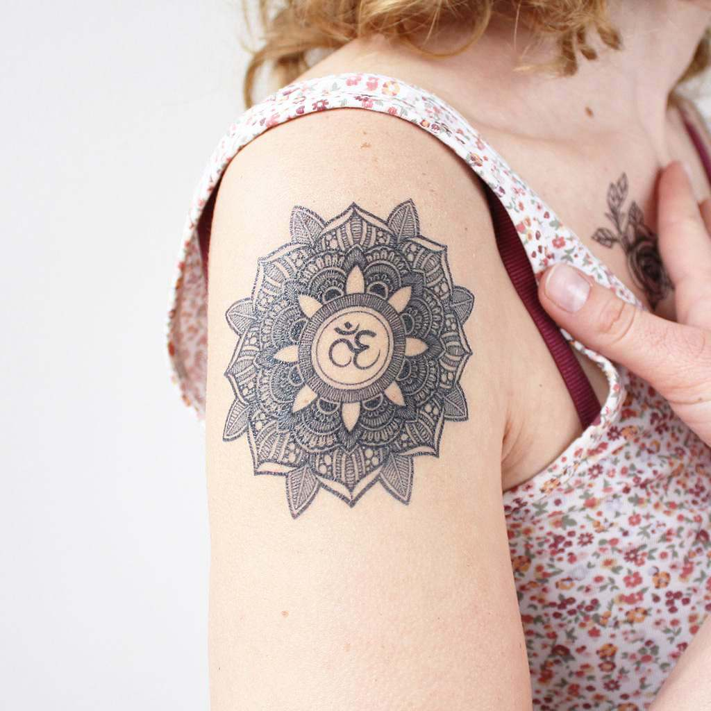 mandala om tattoo