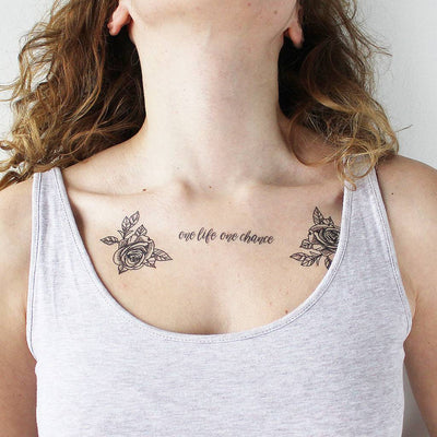 one life one chance temporary tattoo