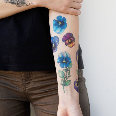 wild pansy tattoo