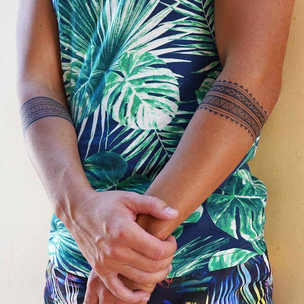 polynesian armband temporary tattoo
