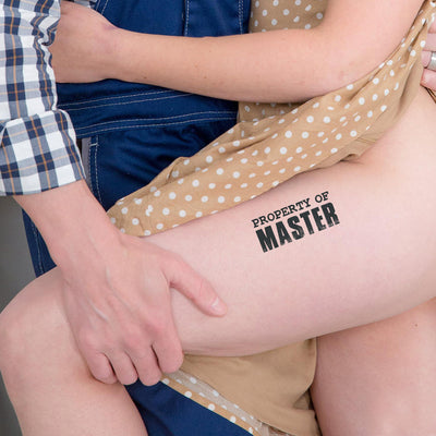 2x Property of Master Temporary Tattoos