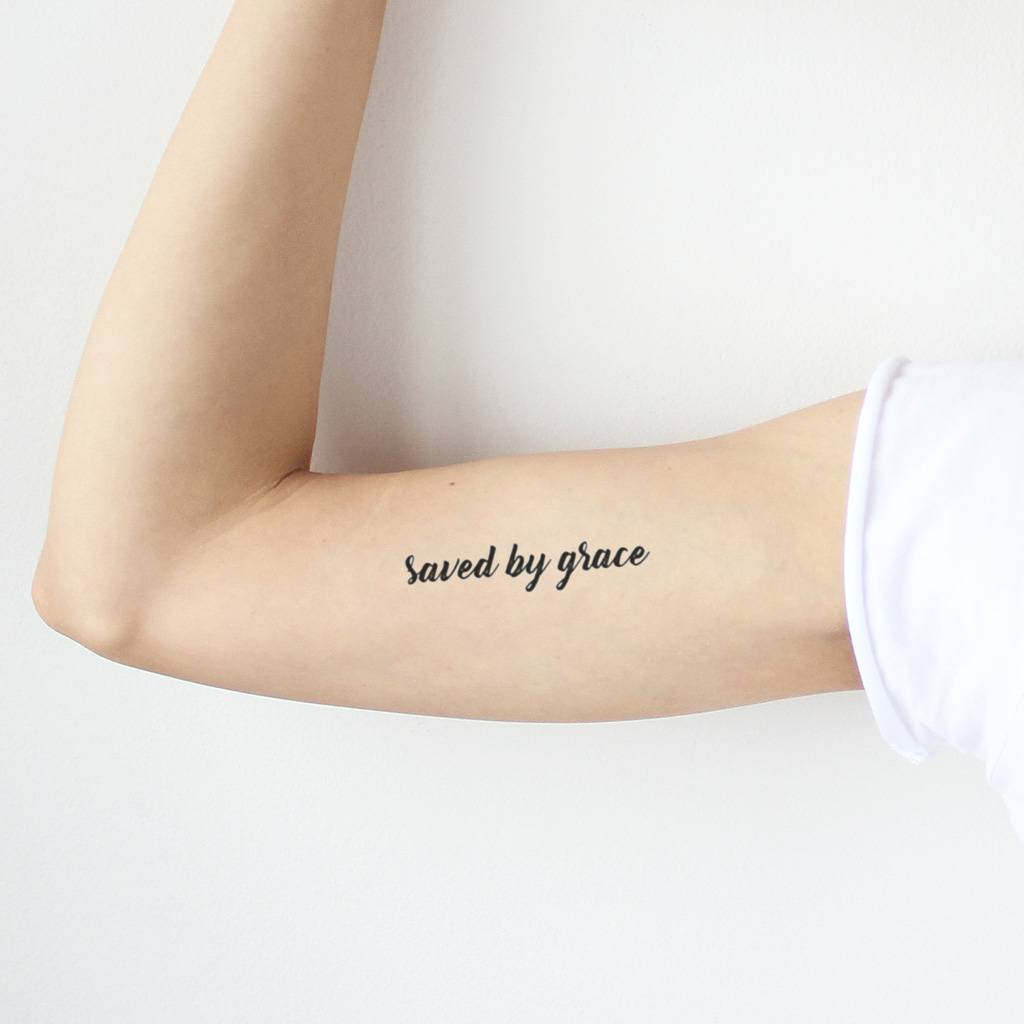 saved by grace temporary tattoo