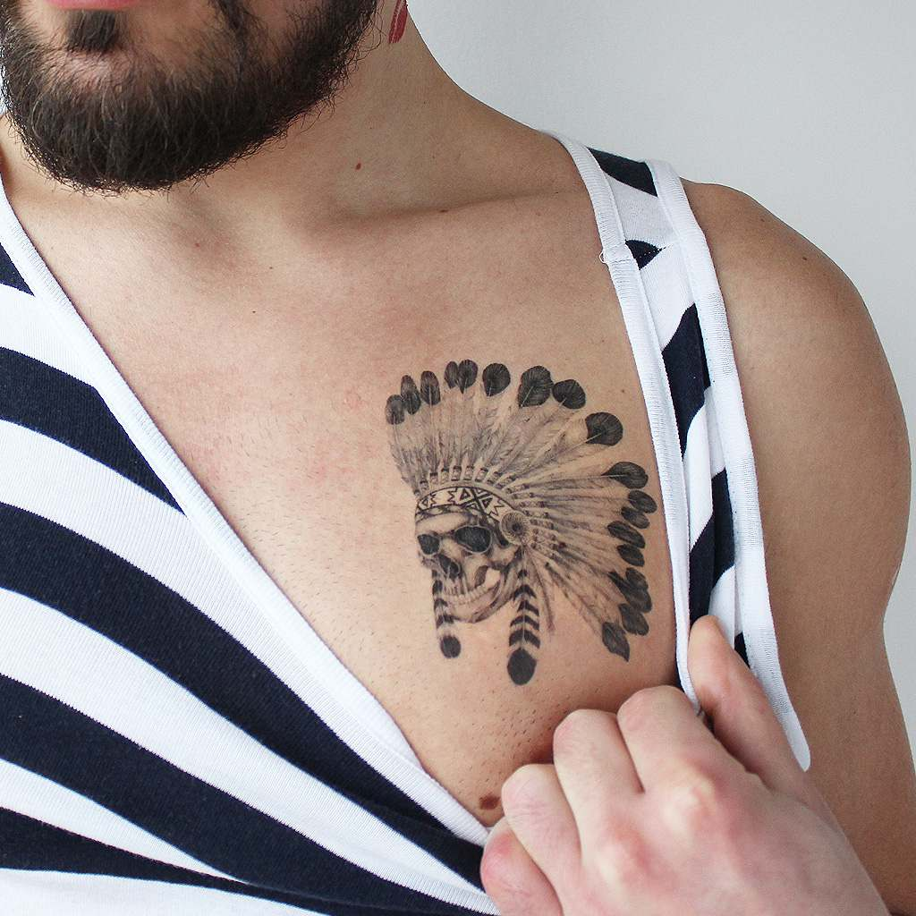 native american temporary tattoo