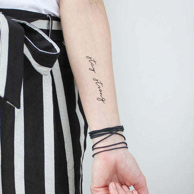 stay strong temporary tattoo
