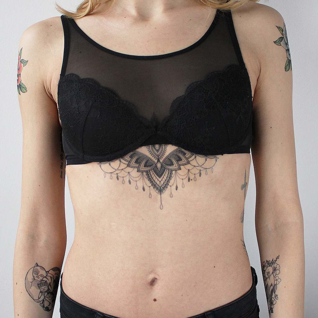 sternum temporary tattoo