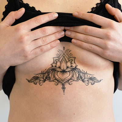 intricate underboob tattoo