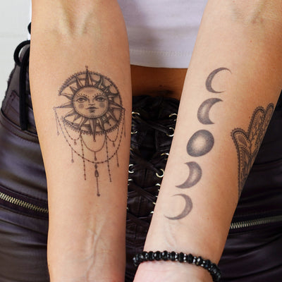 sun moon tattoos