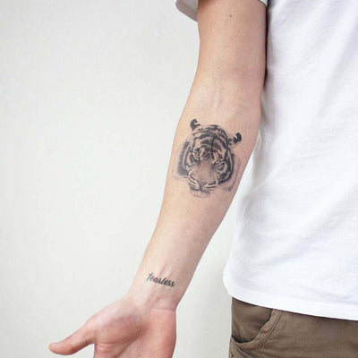 tiger forearm temporary tattoo