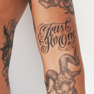 trust no one tattoo temporary tattoo