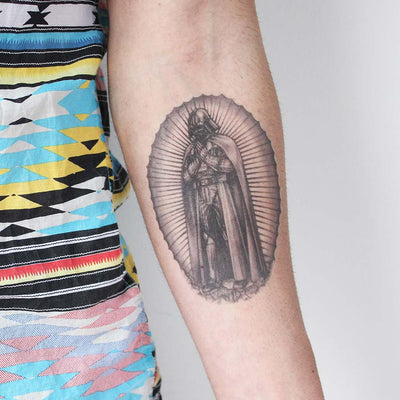vader of guadalupe temporary tattoo
