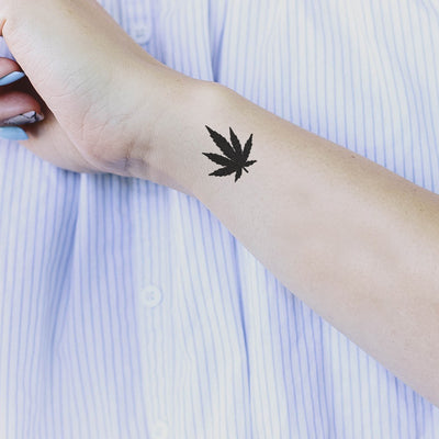 weed temporary tattoo