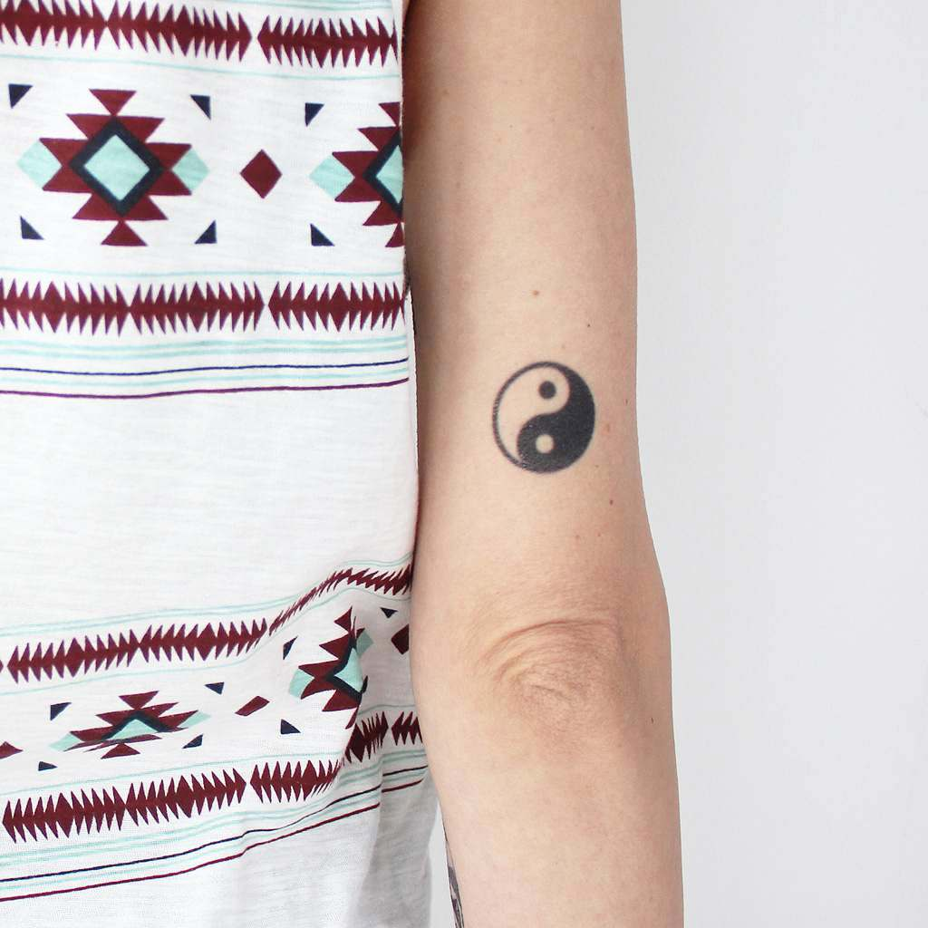cool yin yang tattoo