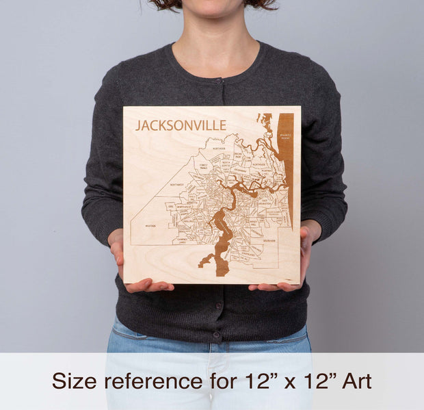 Wood Art 1 Custom Anniversary Gift - Etched Atlas