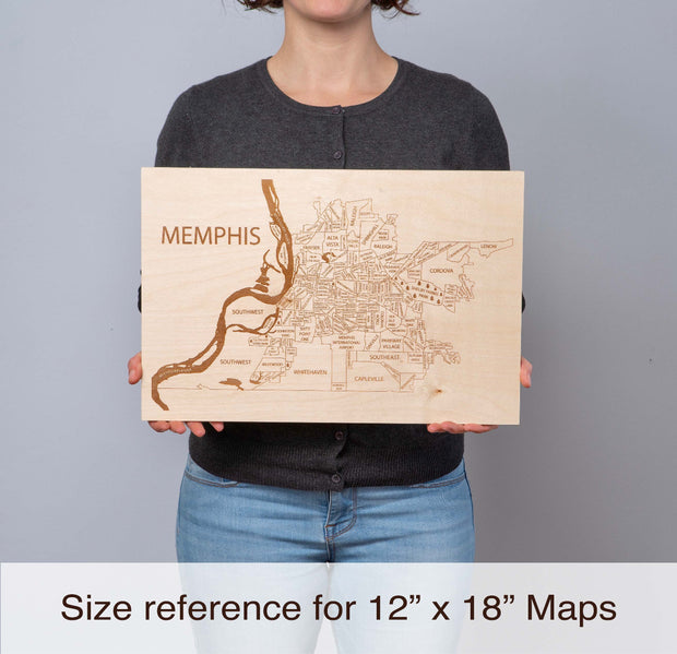 World Map (with country borders) Personal Home Decor - Etched Atlas