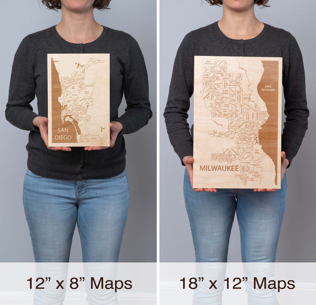 San Diego Area Personal Home Decor - Etched Atlas