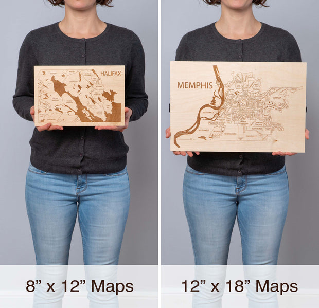 Delaware Bay Area Personal Home Decor - Etched Atlas