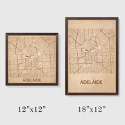 Adelaide Map - 18x12-Framed- Etched Atlas