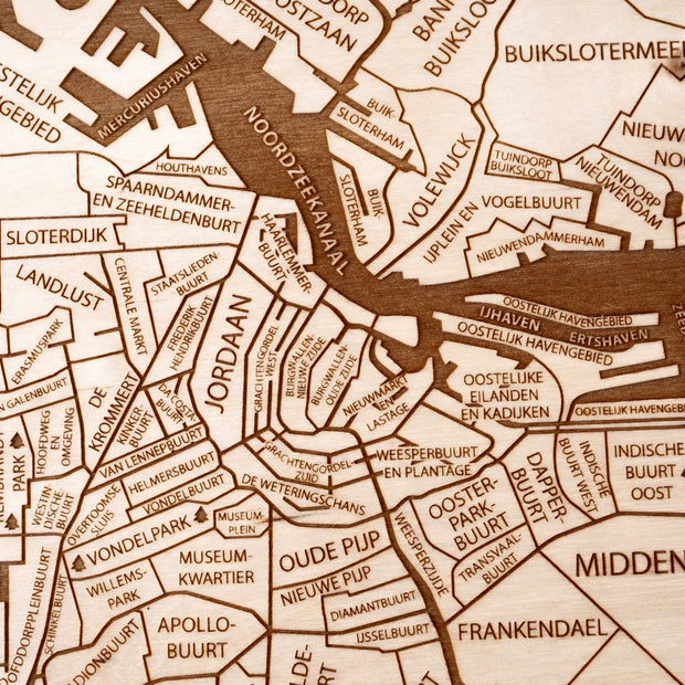 Amsterdam Custom Map Gift - Etched Atlas
