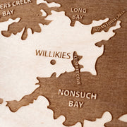 Antigua Engraved Wood Map - Etched Atlas
