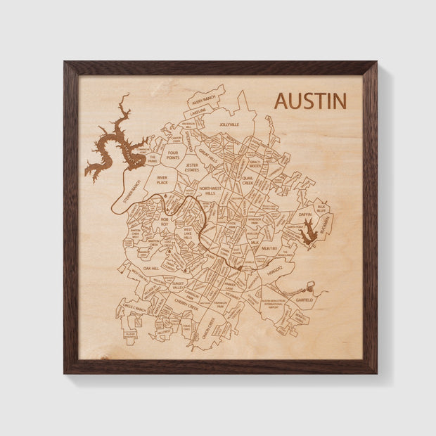 Austin Map - Etched Atlas