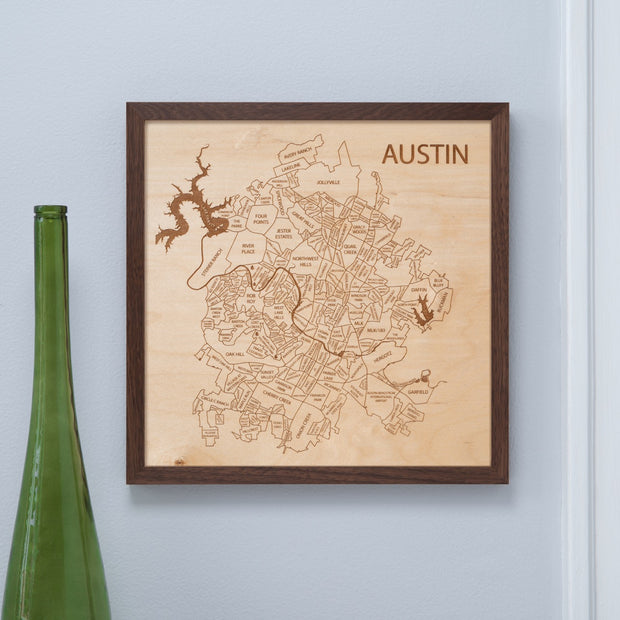 Austin Wedding Anniversary Gift - Etched Atlas