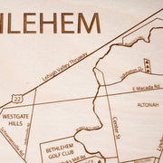 Bethlehem Closing Housewarming Gift - Etched Atlas