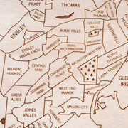 Birmingham Engraved Wood Map - Etched Atlas