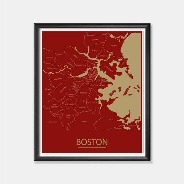 Boston College (Boston Area Map)