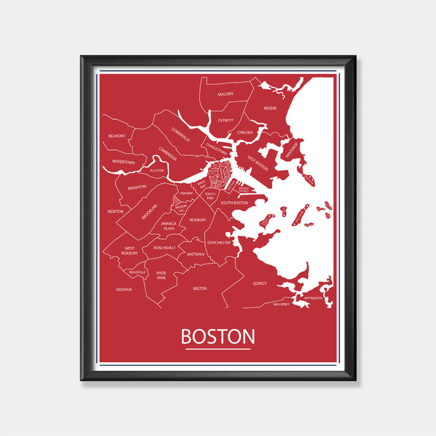 Boston Red Sox (Boston Area Map)