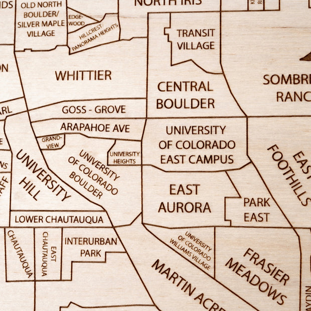 Boulder Closing Housewarming Gift - Etched Atlas