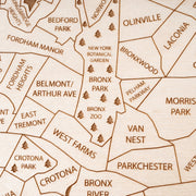 The Bronx Custom Map Gift - Etched Atlas