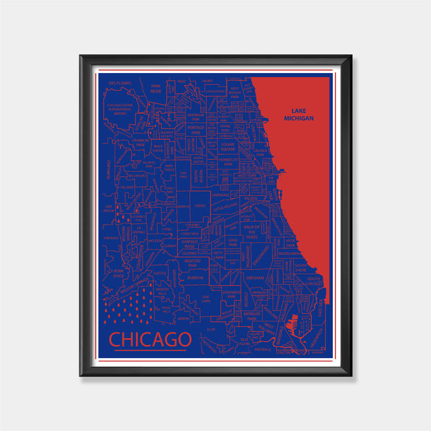 Chicago Cubs (Chicago Area Map)