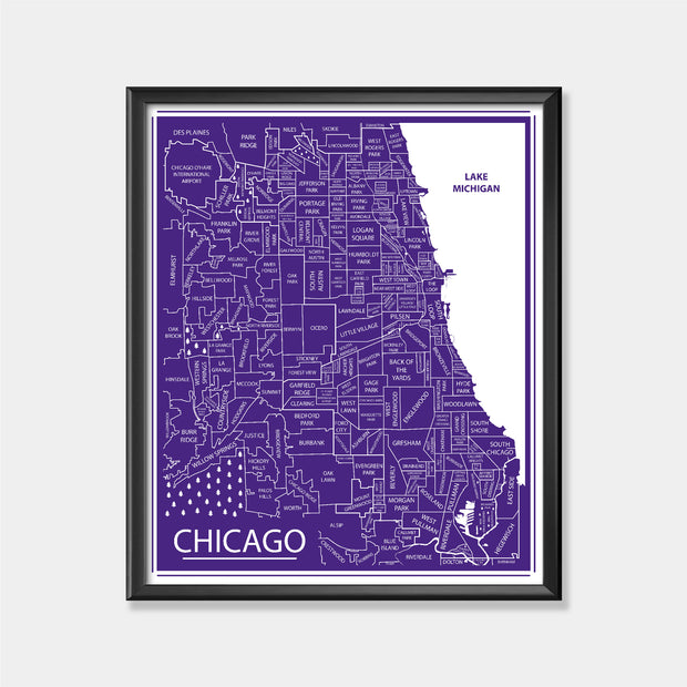 Northwestern University (Chicago Area Map)