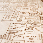 Chicago Custom Map Gift - Etched Atlas